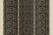 Clarence Housefez Ethnic Chic Embroidered Upholstery Fabric Fabric 10yards Nero