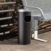 Outdoor Ashtray Floor Standing Smoking Cigar Cigarette Butts Black Fire Safe New