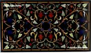 30x48 Inches Stone Patio Coffee Table Marble Dining Table Top Inlay Art Handmade