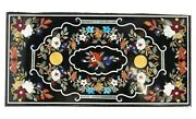 30 X 60 Inches Marble Lawn Table Top Unique Dinning Table With Pietra Dura Art