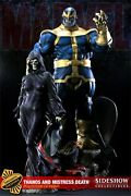 Sideshow Stan Lee Signed Thanos Mistress Death Diorama Statue Exclusive Bust