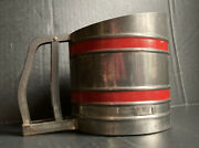 Sift Chine Metal Double Screen Flour Sifter Red Vintage Farmhouse Kitchen Decor