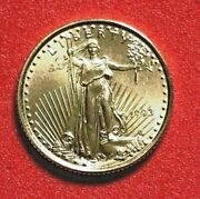 1993 American Gold Eagle 1/10 Oz Brilliant Uncirculated - Authentic 5 Gold Coin