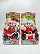 Santa Claus And Mrs Claus Fairy Tale Troll Doll 1992 Music Light Vintage Christmas
