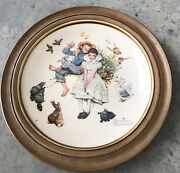 Gorham Norman Rockwell Spring Sweet Song So Young Decorative Wall Plate Decor