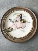 Gorham Norman Rockwell Summer Flowers In The Tender Bloom Decorative Wall Plate
