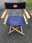 Vintage 90's Nickelodeon Studios Directors Collapsible Wooden Portable Chair