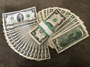 ✯lot Of 10 Lightly Circulated 2013 Rare Two Dollar Bill 2 Note Collectible✯