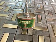 Smaller Size Antique Vintage Singer Household Oil Sewing Machine Oiler Tin Can