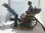 Lladro 1383 A Ride In China Rickshaw Ride Sold As Is 2