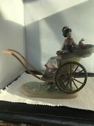 Lladro 1383 A Ride In China Rickshaw Ride Sold As Is 3