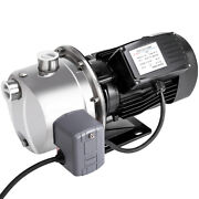 0.75hp/0.5hp 70 L/h Shallow Well Jet Water Pump W/pressure Switch Stainless