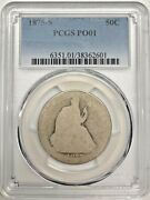 1875 S Seated Liberty Half Dollar Pcgs Po01 Low Ball Silver Registry Coin