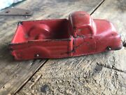 Vintage Antique Auburn Rubber Truck Early Model Red Hard Rubber