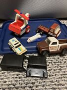 Vtg Tonka Truck Toy Lot 70s 80s Helicopter Jeep Flatbed Ship Parts Plane Rare
