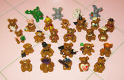 Lot 23 Miniature Bears Handmade Magician Clown Easter Rabbit Cowboy La Baseball
