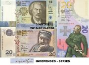 Poland 3 Banknotes In Folder - 2018-2019-2020 - 20+19+20 Zl Independence Series