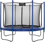 Quality Sports Kids 12ft Outdoor Trampoline Safety Net + Heavy Duty Anchor Kit