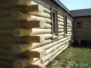 8 Natural, Double-round, White Pine, Cabin Log Package - Wholesale Price