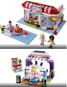 Both Lego Friends Park Café 3061 And Rehearsal Stage 41004