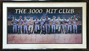 3000 Hit Club Signed Ron Lewis Poster 12 Auto Hank Aaron Willie Mays Coa