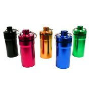 Bulk Lot Keychain Containers, Various Colors   Variable Shipping Cost
