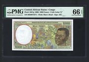 Congo - Central African States 1000 Francs 2000 P102cg Uncirculated Grade 66