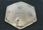 Signed French Degue Flush Mounted Frosted Art Deco Ceiling Fixture
