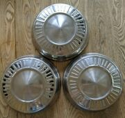 Vintage 10 Dog Dish Hubcaps 1960and039s Dodge - Chrysler - Plymouth Set Of 3