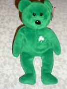 Ty Beanie Baby Bear Erin St. Patricks Day With Rare Errors 1997 Mint Collector