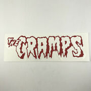 """The Cramps Sticker Die Cut Decal Red And Chrome Silver 6.5"""" X 2"""""""