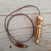 Egyptian Goddess Isis 4 Step Brass Pendulum With Dowsing Charts And Gift Pouch