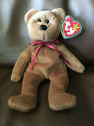 Ty Beanie Babie Teddy New Face Ultra Rare New Mwmt Pvc Investment Quality