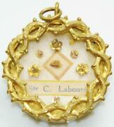 1st Class Reliquary St. Catherine Laboure Holy Relic Crown Of Thorns Gilt Theca