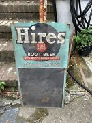 Vintage 1940andrsquos Hires Root Beer Sign And Chalk Board