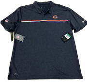 Mens Chicago Bears Nike Sideline Nfl Apparel Golf Polo Size Xl Authentic Sale