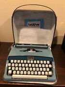 Vintage Brother Opus 885 Portable Manual Typewriter With Case