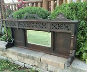 Antique Vintage Upright Piano Front Panel Wall Hanging Decor