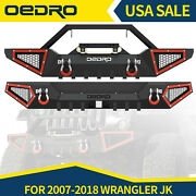 Oedro Textured Front Or Rear Offroad Bumper Fit For 2007-2018 Jeep Wrangler Jk