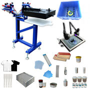 Universal Screen Printing Equipment 3 Color Press Printing Kit With Small Dryer
