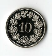 1988 Proof Uncirculated Switzerland 10 Cent Swiss Coin