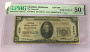 1929 20 National Currency Note Chandler Oklahoma Low Serial Number Andldquo2andrdquo Pmg 50