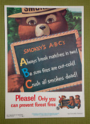 Vintage 1962 Smokey Bear A-b-c Pleaseonly You Can Prevent Forest Fires Poster