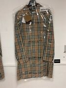 Vintage Check Trench Coat Jacket 80106441 Size Uk 50 Us 40 Rrp Andpound1499