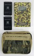 2x Rite In The Rain Warrior Notebooks And Holy Bible Nkjv Cloth Case Camouflage