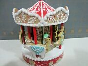2020 Hallmark Qht4001 Gingerbread Carousel Signing Piece - Signed - In Hand
