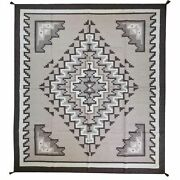 Area Rug Hand-woven Tribal Southwestern Design Wool Size 8.0 X 10.0 Brral-5343