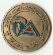 2 Star Dcsper Us Army Europe Deputy Chief Of Staff Challenge Coin 1.5 Dia Bx3