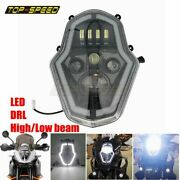 Black Motorcycle Led Headlight Hi/low Drl For 1050 1090 1190 1290 15-18