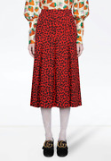 Pleated Silk Leopard Skirt - With Tags- Rrp3200 Aud